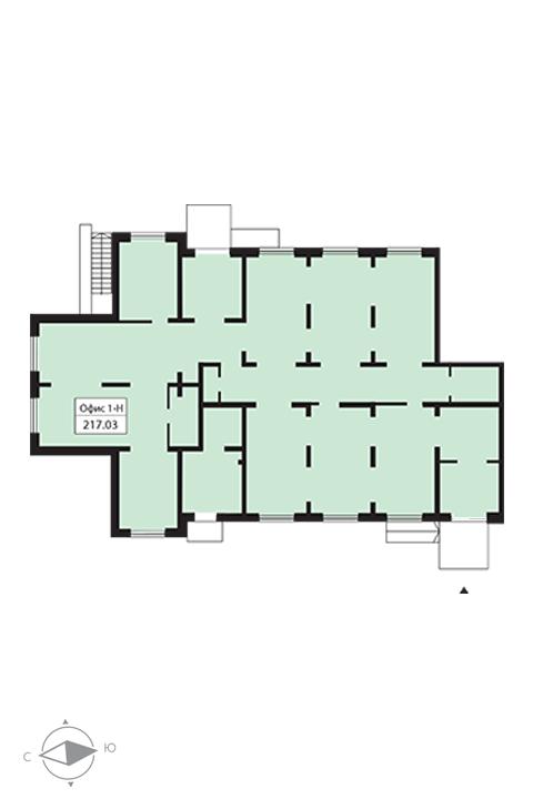 Планировка Коммерческое помещение площадью 217.03 кв.м в ЖК «Шуваловский»